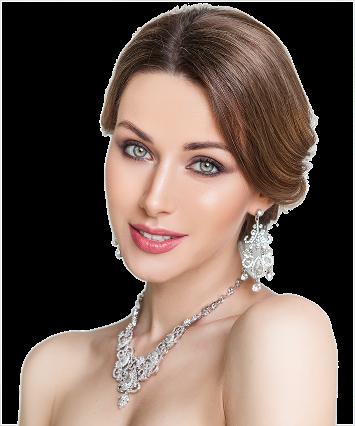 Bijoux Mépat Collier et boucle d'oreilles diamant